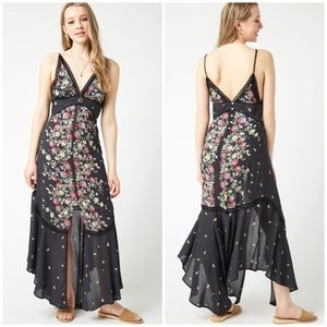 Free People paradise maxi slip lace floral dress